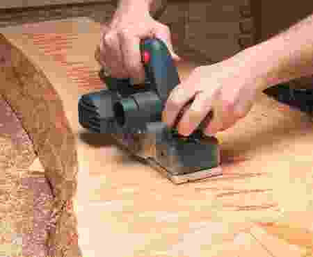 using a power hand planer on wide boards